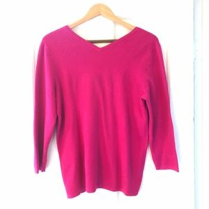 NWOT Ann Taylor Factory Raspberry Sweater